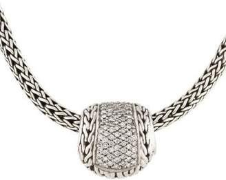 John Hardy Diamond Classic Chain Pendant Necklace