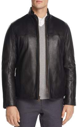 Cole Haan Zip-Front Leather Jacket