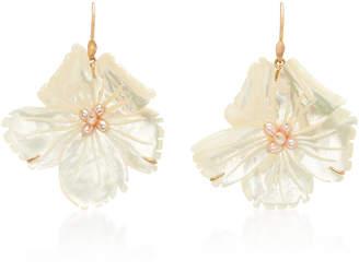 Annette Ferdinandsen M'O Exclusive Wild Rose Mother of Pearl Earring