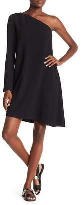 Theory Rosina One Sleeve Crepe Dress