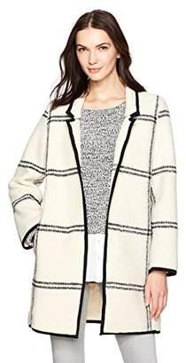 Calvin Klein Women's Windowpane Coat