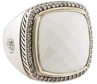David Yurman White Agate & Diamond Albion Ring