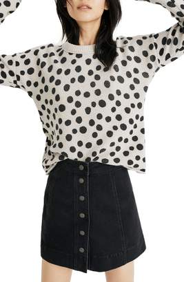 Madewell Leopard Dot Pullover Sweater