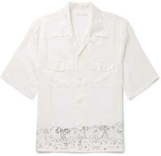 Our Legacy P.x. Camp-Collar Printed Lyocell Shirt