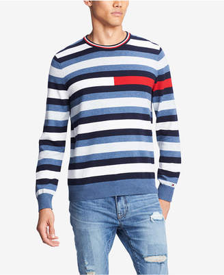 Tommy Hilfiger Men's Julian Logo Stripe Sweater
