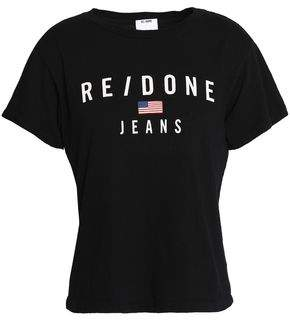 Re/Done By Levi's Printed Cotton-Jersey T-Shirt