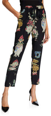 RED Valentino Chinoiserie Lacquer Printed Drawstring Pants