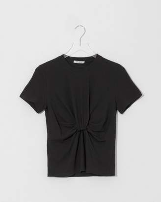 Alexander Wang Black Hightwist Jersey T-Shirt w/ Twist Front Detail