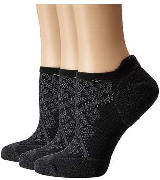 Smartwool PhD Run Elite Micro 3-Pair Pack Women's Crew Cut Socks Shoes