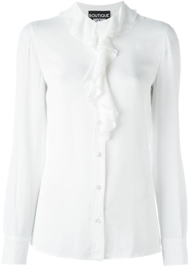 MoschinoBoutique Moschino ruffle neck shirt