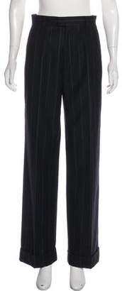Saint Laurent Vintage Wool and Cashmere High-Rise Wide-Leg Pants