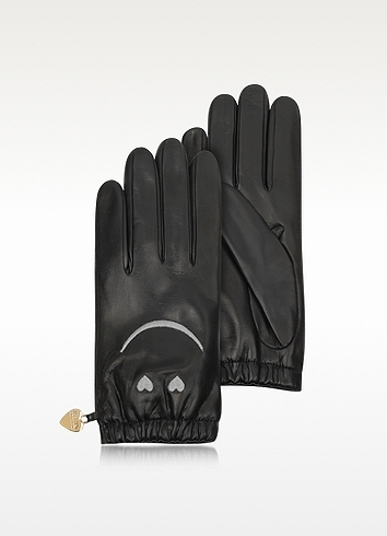 Moschino Cheap & Chic Moschino Cheap and Chic - Black Leather Gloves