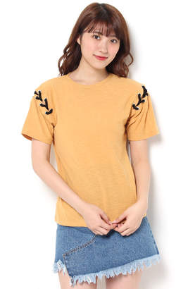 Moussy (マウジー) - マウジー LACE UP SHOULDER TEE