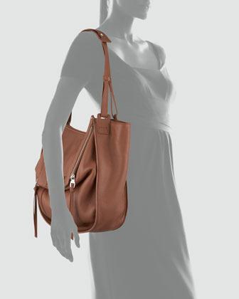 Kooba Zoey Leather Shoulder Bag, Brown
