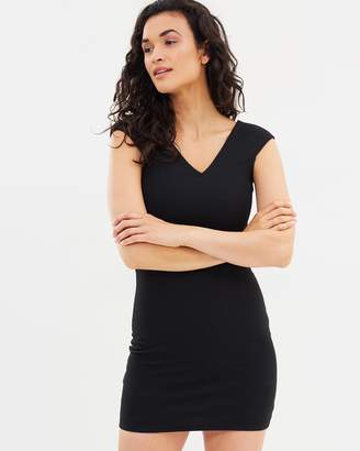Mng Fitted Textured Dress
