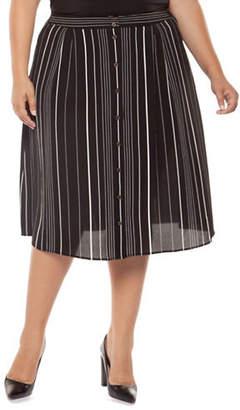 Dex Plus Striped A-Line Skirt