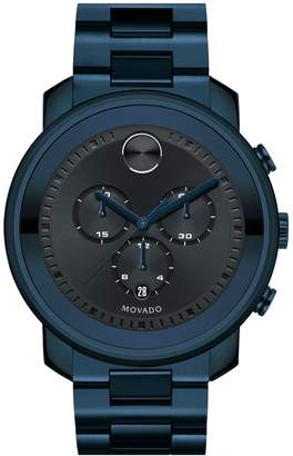 Movado 'Bold' Chronograph Bracelet Watch, 44mm