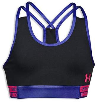 Under Armour Girls' HeatGear Armour Sports Bra - Big Kid
