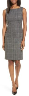 Women's Classiques Entier Check Wool Sheath Dress $299 thestylecure.com