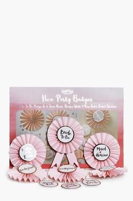 boohoo Ginger Ray Team Bride Rosette Badge Kit 6Pck