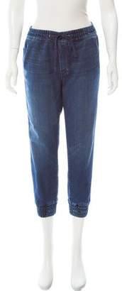 Mother Mid-Rise Straight-Leg Pants