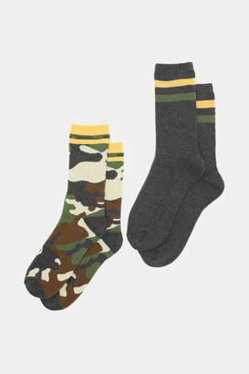 Ardene Thermal Camo Crew Socks