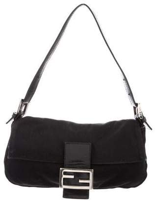 f9bc151784 buy lyst fendi baguette shoulder bag in natural 47125 be2ea; france pre  owned at therealreal fendi leather trimmed baguette bc3b4 81e98