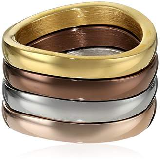 Ion-Plated Stainless Steel Stackable Ring Set