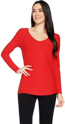 Women With Control Attitudes by Renee Drape Back Crepe Jersey Knit Tunic