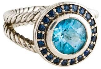 David Yurman Topaz & Sapphire Albion Ring