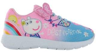 Peppa Pig Girls Pink Hook & Loop Sports Trainers Shoes Pumps Uk Sizes 5 - 10 09 Child