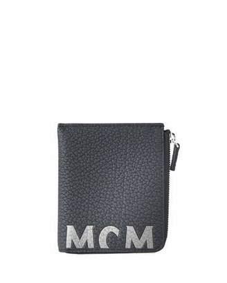 db069314747 MCM Men s Big Logo Leather Zip Wallet