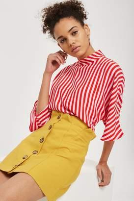 Topshop PETITE Button Through Skirt