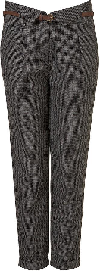 Tweed Paperbag Trouser