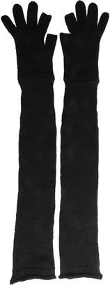 Rick Owens Long Knitted Gloves