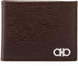 Salvatore Ferragamo Men's Revival Bi-Fold Lizard-Embossed Leather Wallet