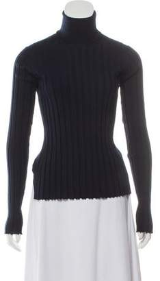 Celine Wool High-Low Turtleneck