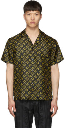 Givenchy Black and Yellow Silk All Over 4G Shirt