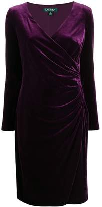 Lauren Ralph Lauren fitted wrap dress