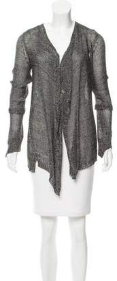 Zadig & Voltaire Metallic Open Knit Cardigan