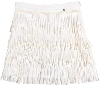 Fringed Cotton Milano Jersey Skirt