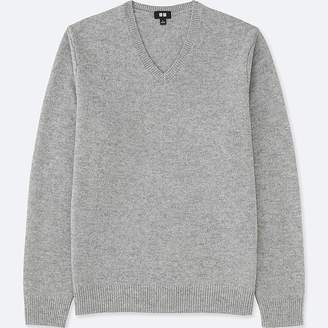 Uniqlo Men's Premium Lambswool V-Neck Long-sleeve Sweater