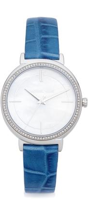 Michael Kors Cinthia Leather Watch $225 thestylecure.com