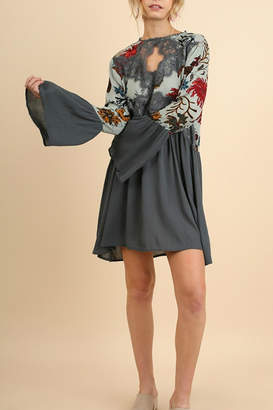 Umgee USA Floral Bell Sleeve