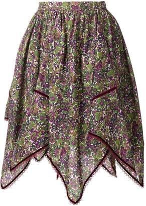 DSQUARED2 floral print handkerchief skirt