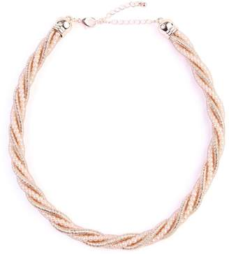 Riah Fashion Beaded-Rope Twisted-Choker Necklace