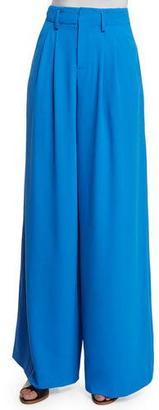 Alice + Olivia Eloise Straight Wide-Leg Pants, Royal Blue $298 thestylecure.com