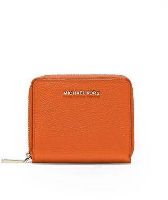 Michael Kors Orange Medium Snap Wallet