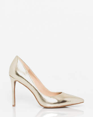 Le Château Metallic Leather-Like Pointy Toe Pump