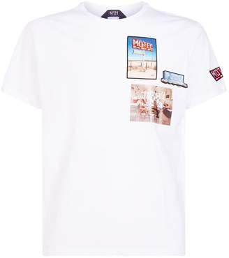 N°21 N 21 Motel Motif T-Shirt
